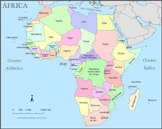 continente-africa-politico
