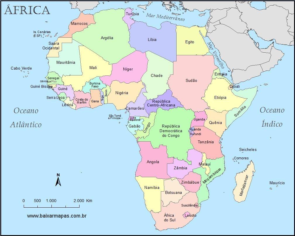mapa da africa Mapa da África | Baixar Mapas mapa da africa