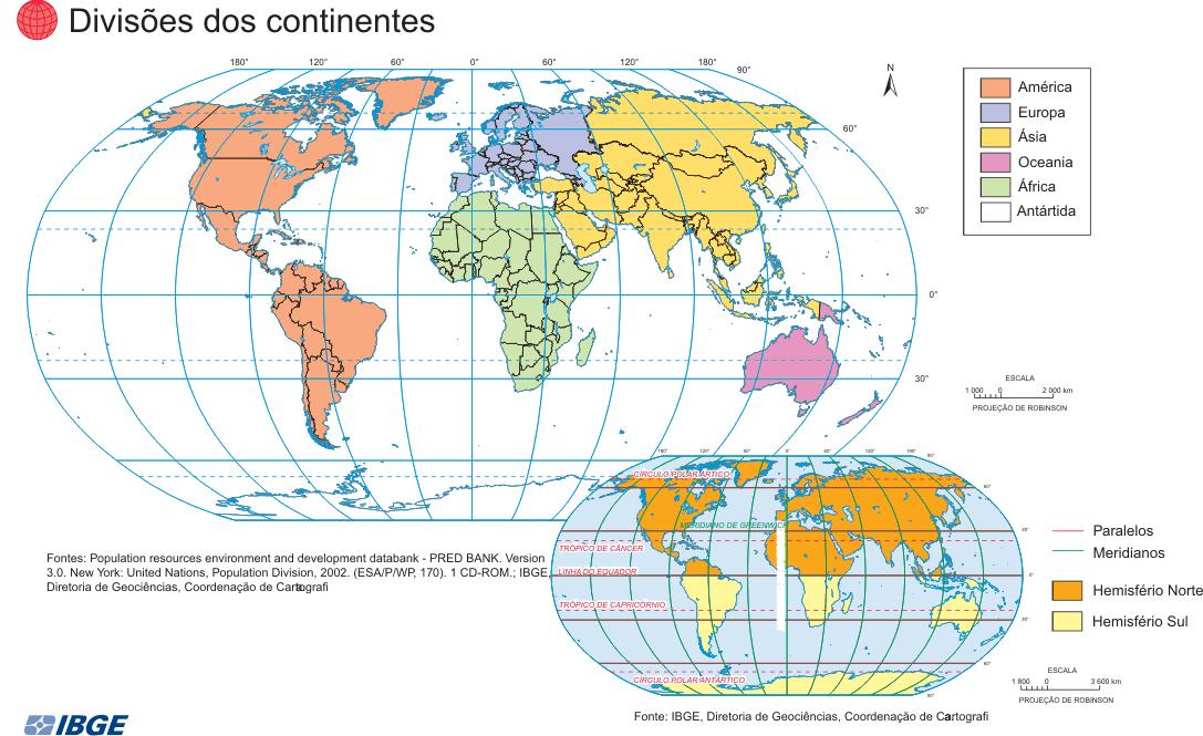 Mapas dos Continentes (IBGE)