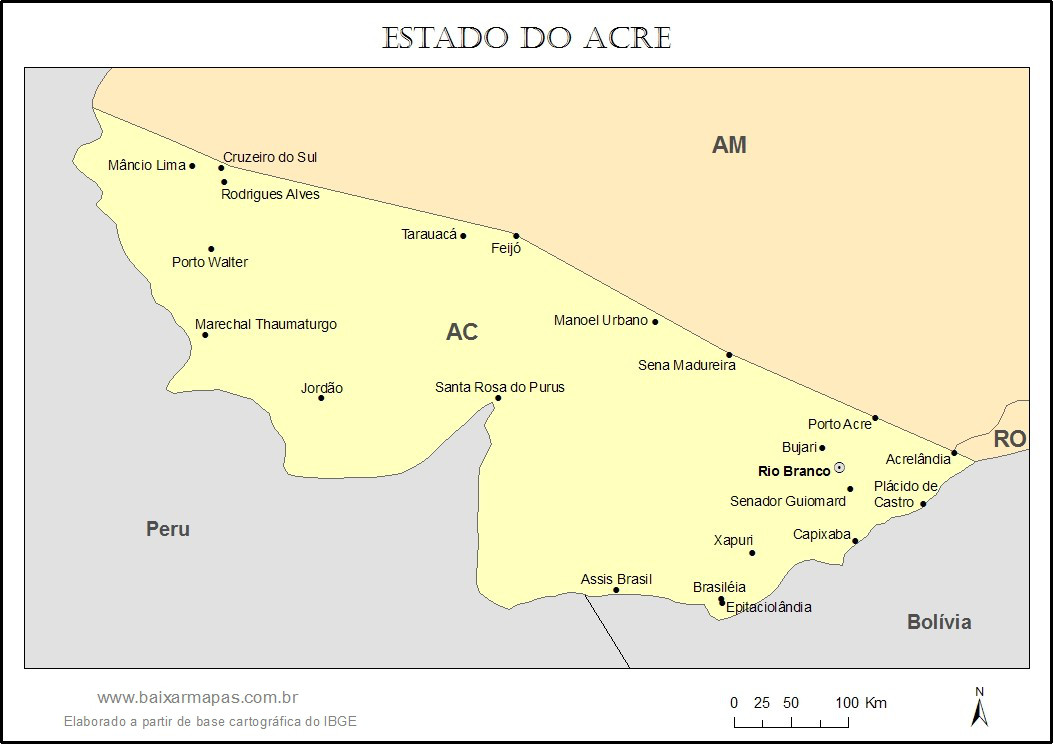 Mapa Do Acre Com Nomes Dos Munic 237 Pios Baixar Mapas